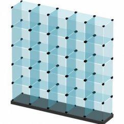 Стеклянные кубы витрины