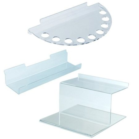 Полки из оргстекла и пластика для экономпанели